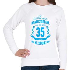 PRINTFASHION kamasz-35-cyan - Női pulóver - Fehér
