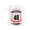 PRINTFASHION kamasz-40-black-red - Bögre - Fehér