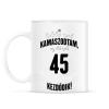 PRINTFASHION kamasz-45-black-white - Bögre - Fehér