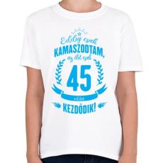 PRINTFASHION kamasz-45-cyan - Gyerek póló - Fehér