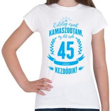 PRINTFASHION kamasz-45-cyan - Női póló - Fehér