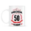 PRINTFASHION kamasz-50-black-red - Bögre - Fehér