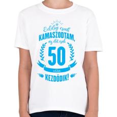 PRINTFASHION kamasz-50-cyan - Gyerek póló - Fehér