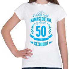 PRINTFASHION kamasz-50-cyan - Női póló - Fehér