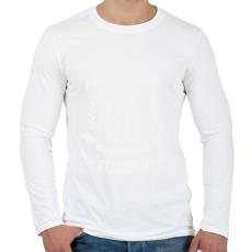 PRINTFASHION kamasz-50-white - Férfi hosszú ujjú póló - Fehér