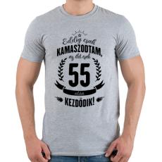 PRINTFASHION kamasz-55-black - Férfi póló - Sport szürke