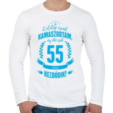 PRINTFASHION kamasz-55-cyan - Férfi hosszú ujjú póló - Fehér