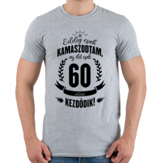 PRINTFASHION kamasz-60-black - Férfi póló - Sport szürke