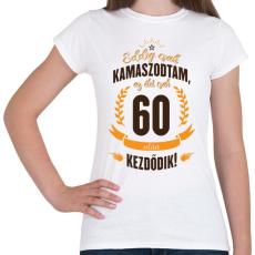 PRINTFASHION kamasz-60-brown-orange - Női póló - Fehér