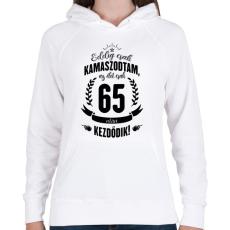 PRINTFASHION kamasz-65-black - Női kapucnis pulóver - Fehér