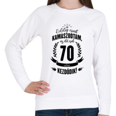 PRINTFASHION kamasz-70-black - Női pulóver - Fehér
