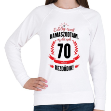 PRINTFASHION kamasz-70-black-red - Női pulóver - Fehér