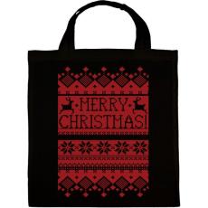 PRINTFASHION Karácsonyi minta - Vászontáska - Fekete