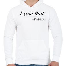 PRINTFASHION Karma - Férfi kapucnis pulóver - Fehér