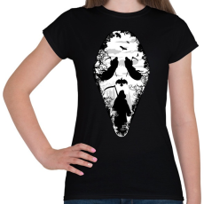 PRINTFASHION Kaszás arca - Női póló - Fekete