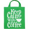 PRINTFASHION Kávé előtt... - Vászontáska - Zöld