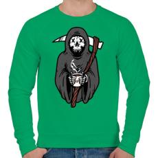 PRINTFASHION Kávézó kaszás - Férfi pulóver - Zöld