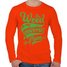 PRINTFASHION Kedvenc gyomom - Férfi hosszú ujjú póló - Narancs