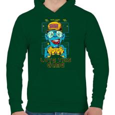 PRINTFASHION Kedvenc játékom - Férfi kapucnis pulóver - Sötétzöld