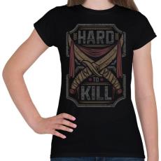 PRINTFASHION Kemény gyilkos - Női póló - Fekete