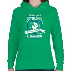 PRINTFASHION Keresztapák - Női kapucnis pulóver - Zöld