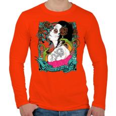 PRINTFASHION Kígyókirálynő - Férfi hosszú ujjú póló - Narancs