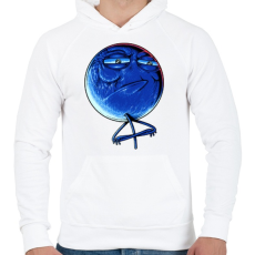 PRINTFASHION Kihívás elfogadva - Férfi kapucnis pulóver - Fehér