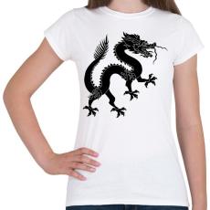 PRINTFASHION Kínai Sárkány - Női póló - Fehér