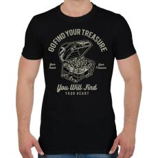 PRINTFASHION Kincsesláda - Férfi póló - Fekete