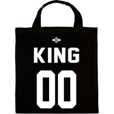 PRINTFASHION KING 00 - Vászontáska - Fekete