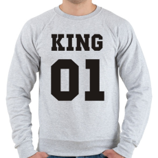 PRINTFASHION King - Férfi pulóver - Sport szürke