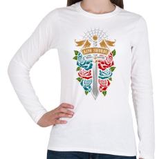 PRINTFASHION Királyi kard - Női hosszú ujjú póló - Fehér