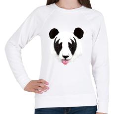 PRINTFASHION Kiss of a panda - Női pulóver - Fehér