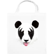 PRINTFASHION Kiss of a panda - Vászontáska - Fehér