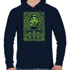 PRINTFASHION Kiszagol - Férfi kapucnis pulóver - Sötétkék