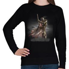 PRINTFASHION knights_templar_002 - Női pulóver - Fekete