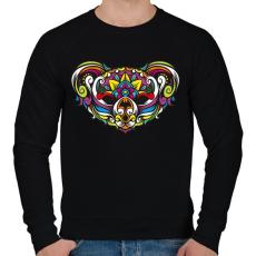 PRINTFASHION Koala - Férfi pulóver - Fekete