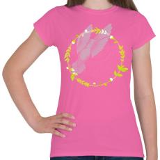 PRINTFASHION Kolibri madár - Női póló - Rózsaszín
