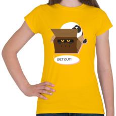 PRINTFASHION Kopj le! - Női póló - Sárga