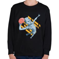 PRINTFASHION kosárlabda - Gyerek pulóver - Fekete