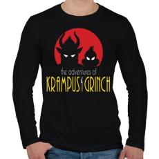 PRINTFASHION Krampusz és Grincs - Férfi hosszú ujjú póló - Fekete