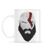 PRINTFASHION Kratos - Bögre - Fehér