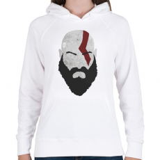 PRINTFASHION Kratos - Női kapucnis pulóver - Fehér
