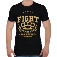PRINTFASHION Küzdelem - Férfi póló - Fekete
