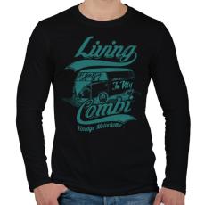 PRINTFASHION Lakókocsi - Férfi hosszú ujjú póló - Fekete