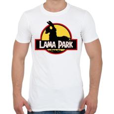PRINTFASHION Lama Park - Férfi póló - Fehér