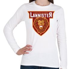 PRINTFASHION Lannister - Női hosszú ujjú póló - Fehér