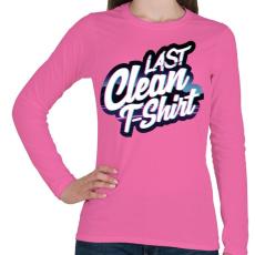 PRINTFASHION Last clean t-shirt - Női hosszú ujjú póló - Rózsaszín