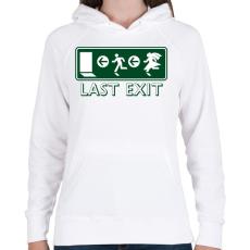 PRINTFASHION last-exit - Női kapucnis pulóver - Fehér