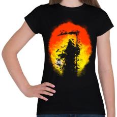 PRINTFASHION Látogatás - Női póló - Fekete